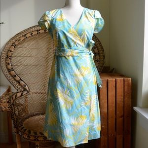 Lilly Pulitzer Colorful Wrap Cap Sleeve Dress